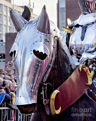 Armoured Horse And Knight Poster