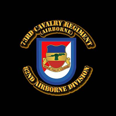 Army - Flash - 73rd Cavalry Regiment - Airborne Poster by Tom Adkins
