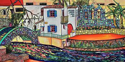 Poster featuring the painting Arneson Theatre In Blues by Patti Schermerhorn