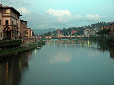 Poster featuring the photograph Arno River, Florence, Italy by Mark Czerniec