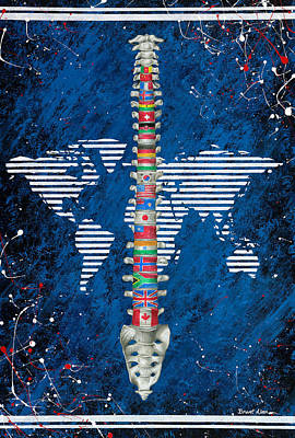 Around The World Poster by Brent Buss