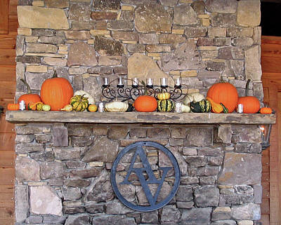 Arrington Vineyards Fireplace Mantle Poster by Marian Bell