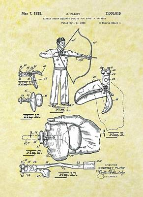 Arrow Release Patent Poster