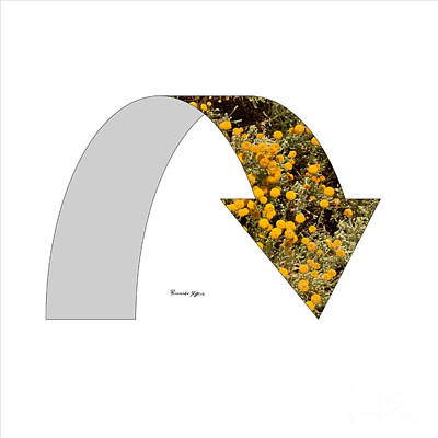 Arrow With Flowers Poster