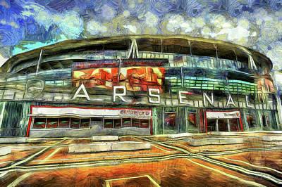 Arsenal Fc Emirates Stadium London Art Poster by David Pyatt