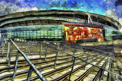 Arsenal Fc Emirates Stadium Van Gogh Poster by David Pyatt
