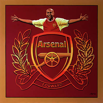 Arsenal London Painting Poster