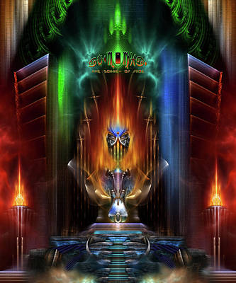 Arsencia Goddess Of Fire Fractal Composition Poster by Xzendor7