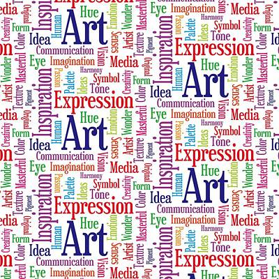 Art And Inspiration Pattern Poster by Antique Images