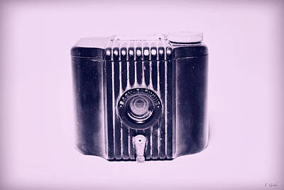 Art Deco Baby Brownie Purple Camera Poster
