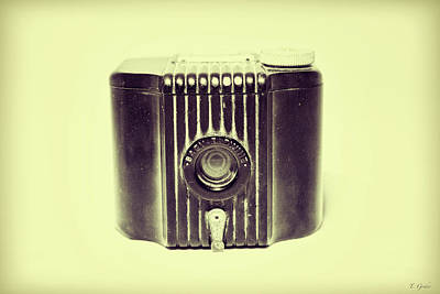 Art Deco Baby Brownie Yellow Camera Poster