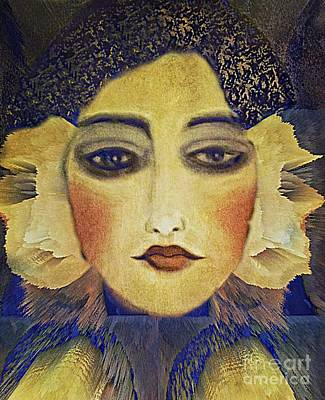 Poster featuring the digital art Art Deco  Beauty by Alexis Rotella