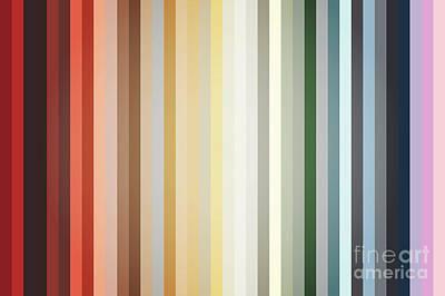 Art Deco Color Palette Of 1940 Poster by Radu Bercan
