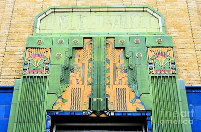 Art Deco Facade At Old Public Market Poster