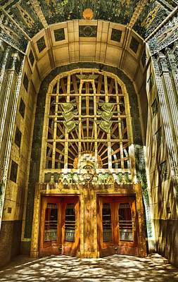 Art Deco Marine Building Poster