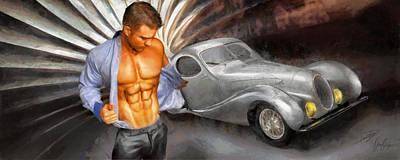 Art Deco Pin Up Poster