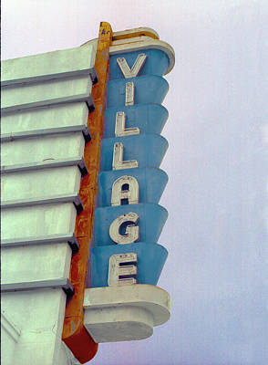 Poster featuring the photograph Art Deco Village by Matthew Bamberg