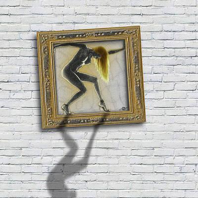 Art For The Sake Of Art Woman Framed 1 Poster by Tony Rubino