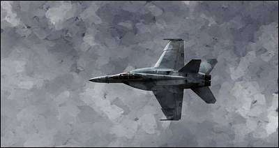 Poster featuring the photograph Art In Flight F-18 Fighter by Aaron Lee Berg