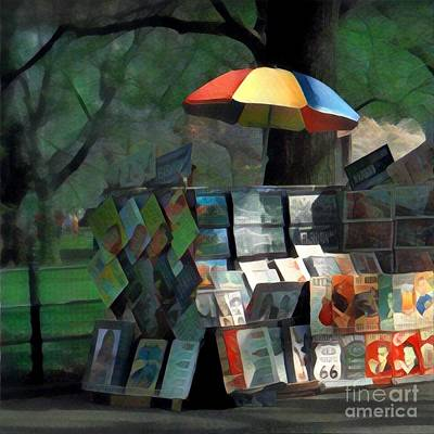 Art In The Park - Central Park New York Poster by Miriam Danar