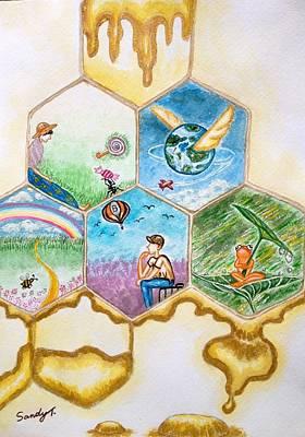 Art Is The Stored Honey Poster