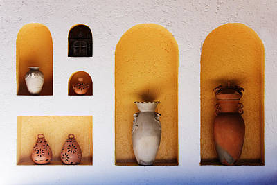 Art Niches With Pottery Poster by Jeremy Woodhouse