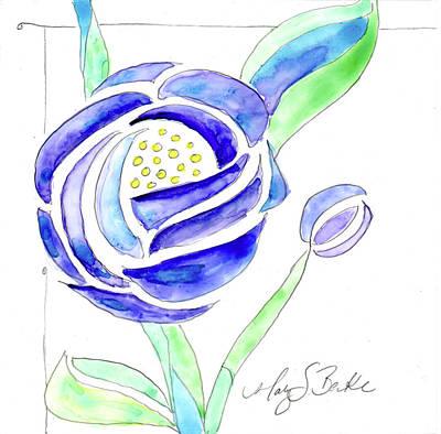 Art Nouveau Roses II Poster
