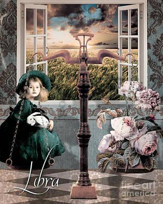 Art Nouveau Zodiac Libra Poster