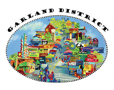 Garland District In Color Poster by Tracy Dupuis Roland
