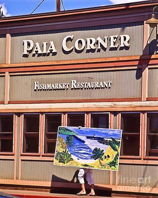 Paia Maui Hawaii Art On The Move Poster by Jim Cazel