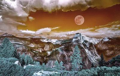 Art - Post Apoclypse Yosemitee Poster by Celestial Images