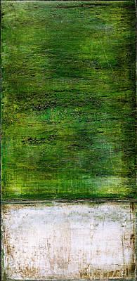 Art Print Green White Poster
