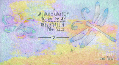 Poster featuring the painting Art Washes The Soul by Kerri Farley