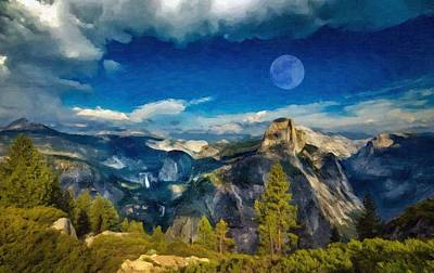 Art - Yosemite Poster by Celestial Images