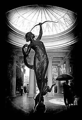 Poster featuring the photograph Artemis At Huntington Library by Lori Seaman
