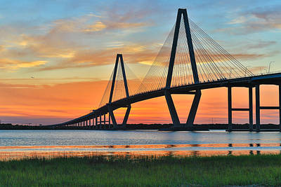 Arthur Ravenel Jr. Bridge At Dusk - Charleston Sc Poster