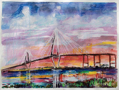 Arthur Ravenel Jr Bridge Charleston Poster