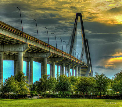 Arthur Ravenel Jr Bridge Charleston South Carolina Art Poster