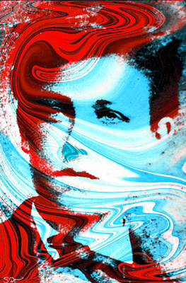 Arthur Rimbaud Tribute Poster by Abstract Angel Artist Stephen K