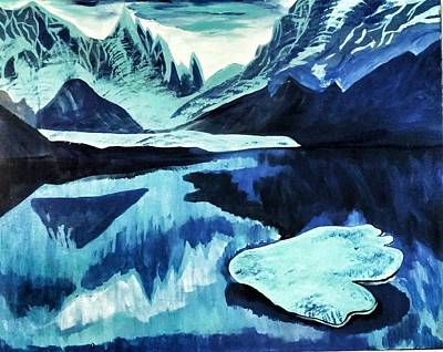 Poster featuring the painting Artic Blue  by Jennah Lenae