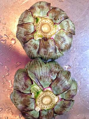 Poster featuring the photograph Artichokes In The Sink by Olivier Calas