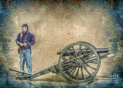 Artilleryman With Cannon Poster by Randy Steele