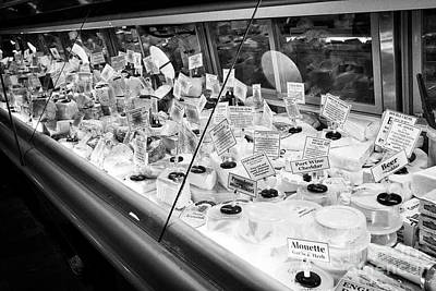 artisan cheeses for sale at reading terminal market food court Philadelphia USA Poster