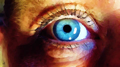 Poster featuring the digital art Artist Eye View by Shelli Fitzpatrick