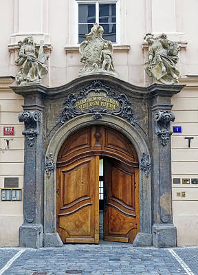 Artistic Ornate Door In Prague Poster