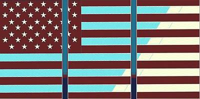 Artistic Usa Flag Poster