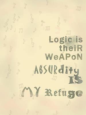 Artist's Absurd Logic Poster by Keshava Shukla