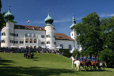 Poster featuring the photograph Artstetten Castle In June by Travel Pics
