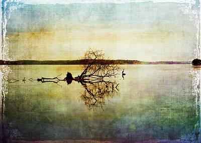 Artsy Lake Reflections Poster