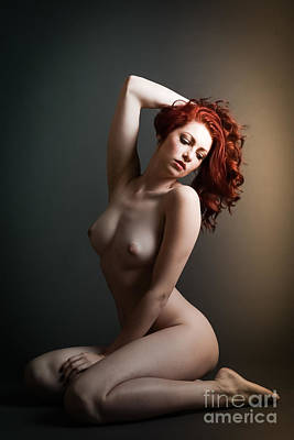 Artsy Red Pin Up Poster